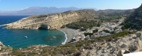 Get a rental car to discover Matala beach Heraklion, Crete